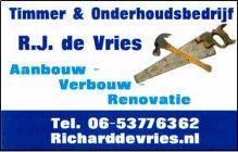Timmer & Onderhoudsbedrijf R.J. De Vries